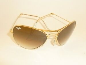 66c028db75a New RAY BAN Folding Aviator Gold Frame RB 3479 001 51 Gradient Brown ...