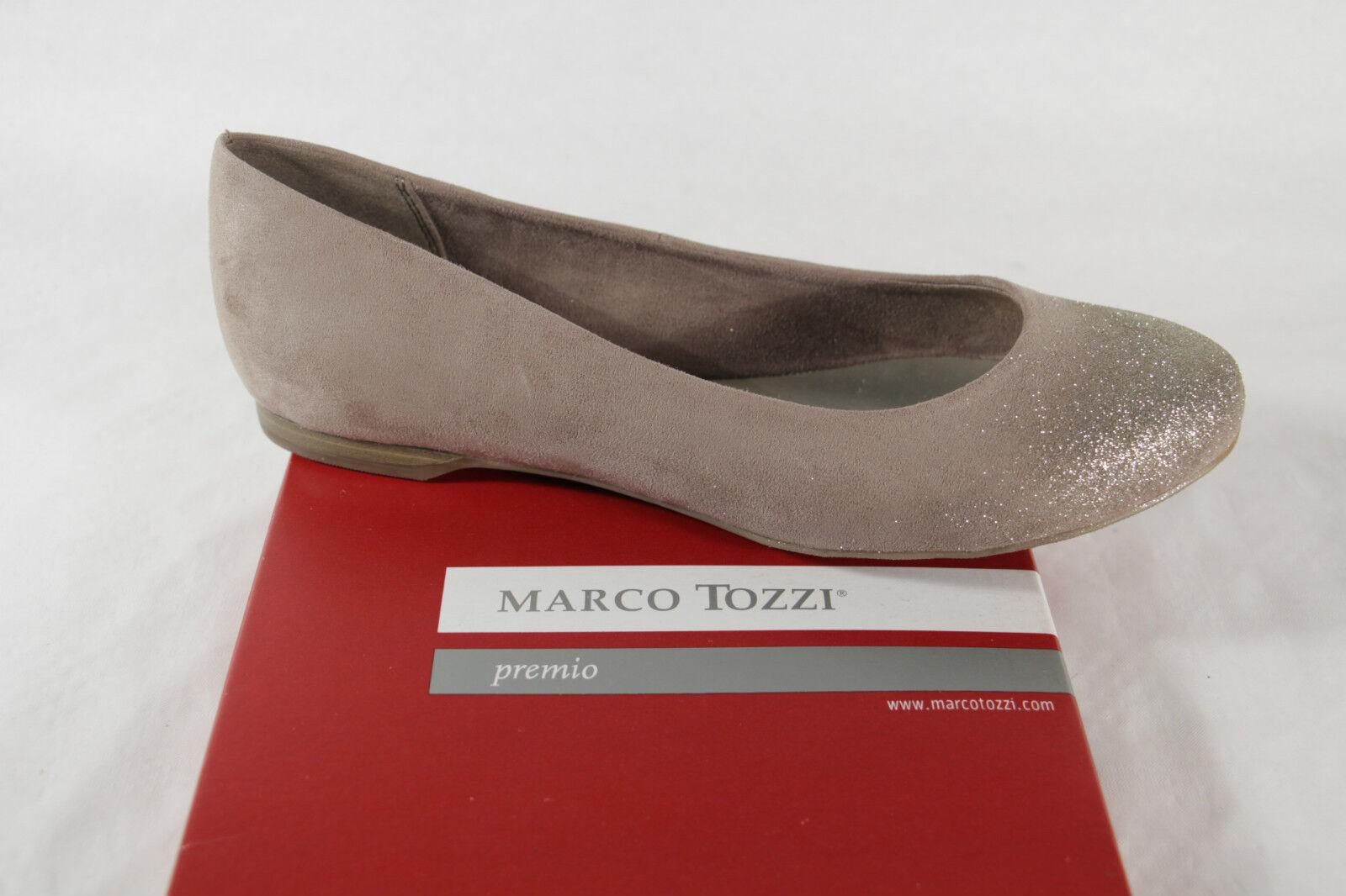 Marco Tozzi Ballerine 22104 Mocassins Beige Doré Simili-Cuir Neuf