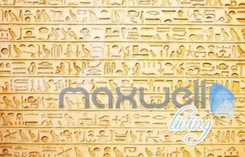 3D Egyptian Words Icons Entire Living Room Business Wallpaper Wall Mural Art Dec