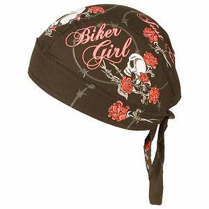 womens biker just ride headwrap headscarf