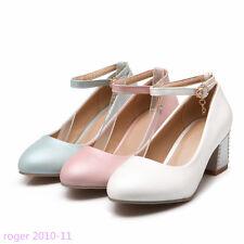 item 2 Womens Ladies Pumps Classics Block Heels Sandals Gifts Party Shoes  UK Size I522 -Womens Ladies Pumps Classics Block Heels Sandals Gifts Party  Shoes ...