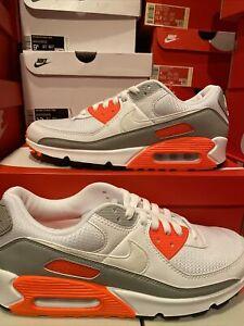 Nike Air Max 90 HYPER ORANGE Running Shoes Fashion Sneakers CT4352 ...