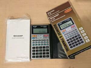 Tested/ Working! Sharp EL-738 Business/ Financial Calculator With Box And Manual