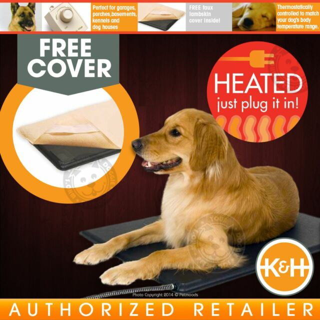 K&H Lectro-Kennel Heated Pad & Cover Dog Bed Crates Garage Home | KH1020 LARGE
