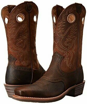 Ariat Men/'s Heritage Roughstock Western Boot Brown Oiled Rowdy 10002227
