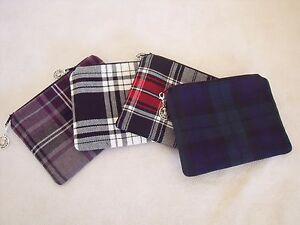 Tartan-fabric-Coin-Purse-17-fabric-colour-choices-handmade-in-Scotland