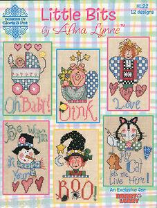 Alma-Lynne-Little-Bits-Christmas-Angel-Cat-Witch-American-Cross-Stitch-Pattern