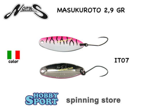 MASUKUROTO NORIES 2.9 GR ITALIAN COLOR IT07 SPOON AREA TROUT SPINNING