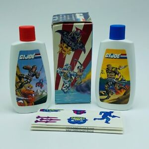 GI-JOE-Figurine-Hasbro-Jouet-Cobra-1988-Ensemble-Cadeau-Shampooing-Stickers-Duke-AVON