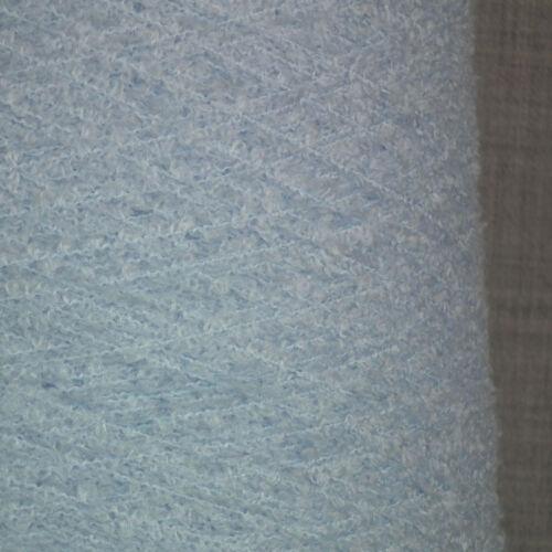 Bebé Suave Azul Hilo boucle 500g 10 Bolas 3 Capas Caniche Bobble Knitting pálida luz
