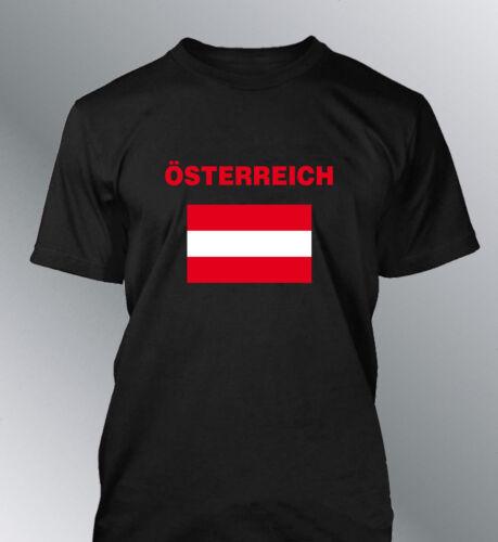 Tee shirt AUTRICHE foot homme football drapeau osterreich flag euro monde