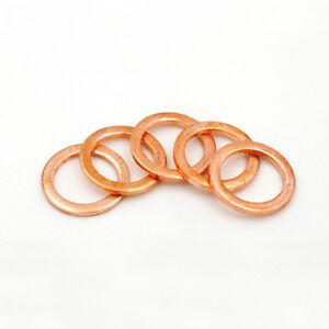 Copper Rings Sealing Rings Gasket Copper CU Ø4mm-Ø30mm Pack of 100 pieces M4-M30