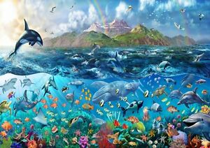 Tropical Sea Life Underwater Ocean Fishes Photo Wallpaper