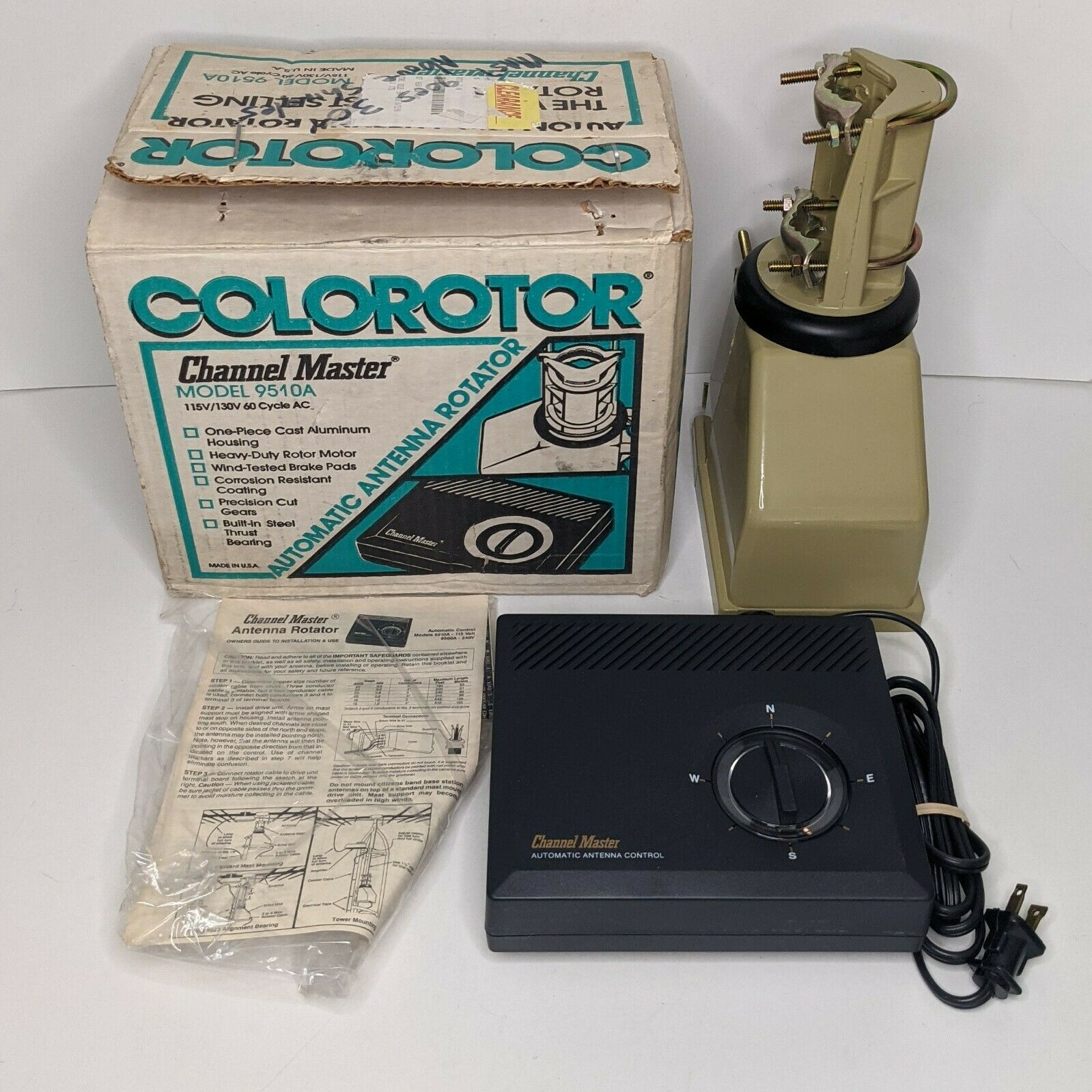Vintage New Colorotor Channel Master Automatic Antenna Rotator Model 9510A. Available Now for 249.99