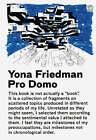 Pro Domo by Yona Friedman (Hardback, 2006)