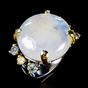 Vintage28ct-Natural-Moonstone-925-Sterling-Silver-Ring-Size-8-R124175