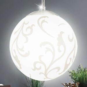 Details zu Hänge Lampe Schlafzimmer Kugel Pendel Decken Leuchte Glas Dekor  Big Light
