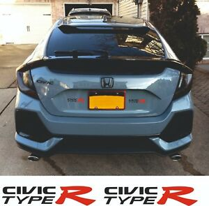 Type R Logos Honda Civic Type R FK2 // FK8 Car Mats x2 - Colour Choice!