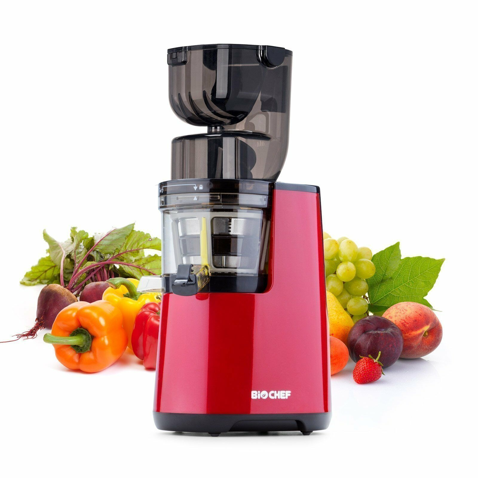 BioChef 300 W Max Rated Power slow juicer Ensemble Cold Press Juicer-Rouge