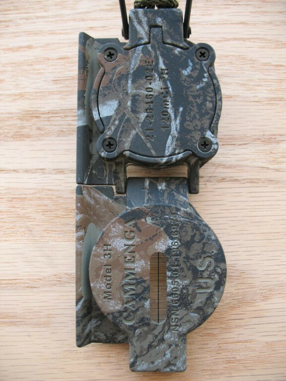 Brand New US Military Issue Tritium Lensatic Compass by Cammenga - Matte Camo