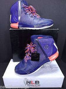 7b192a724e74 Adidas D Derrick Rose 4  G66939  Men s Size 6.5 Night-Blue Run White ...
