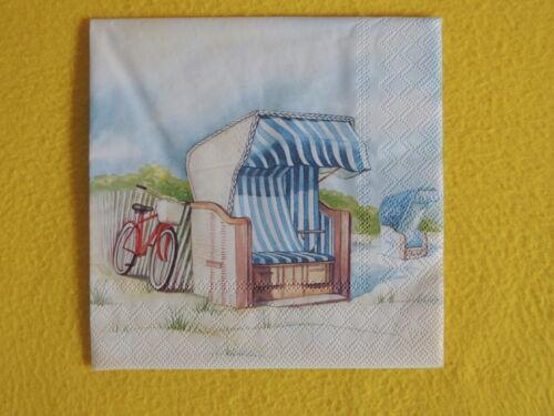 20 servilletas Day at the Beach playa cesta para bicicleta marítimo playa 1 envase OVP