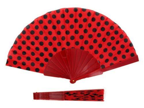 Handfächer Fächer Taschenfächer Stoff Deko Stofffächer Sommerfächer Klappfächer