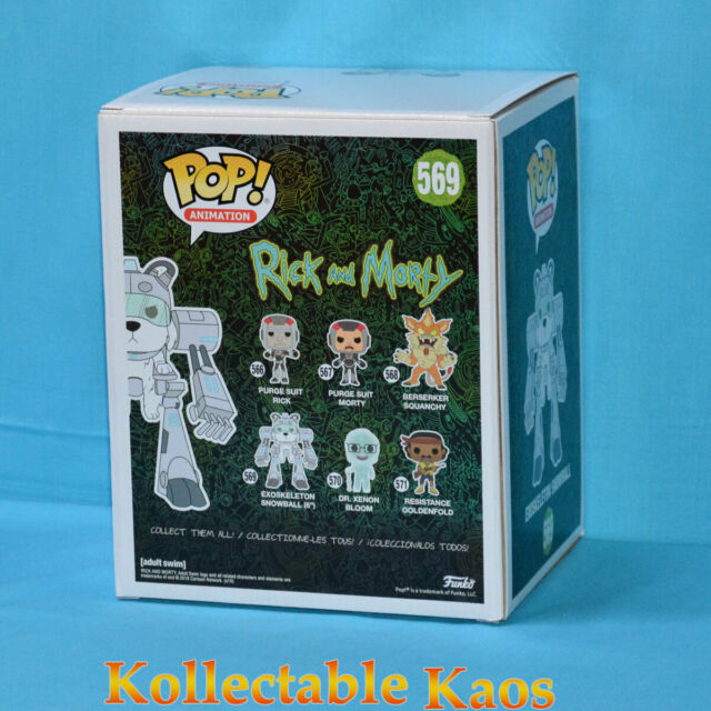 """Funko Pop Rick and Morty Snowball in Exoskeleton Suit Super Sized 6/"""" #569"""