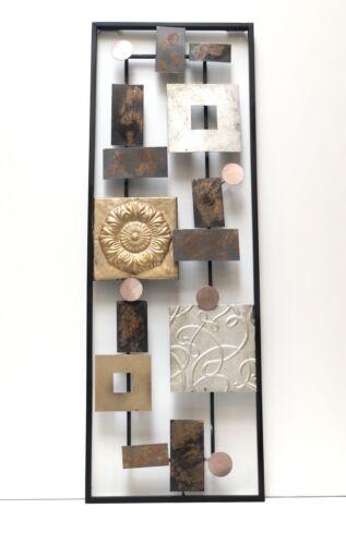 Vintage Shapes Metal Square Wall Art Sculpture Decor by Zenda Imports