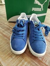 item 3 Puma Men Suede Classic Athletic Shoes Blue Olympian and White Size 9  1 2 -Puma Men Suede Classic Athletic Shoes Blue Olympian and White Size 9  1 2 885673864