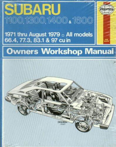 SUBARU 1100 1300 1400 1600  1971-8//1979 HAYNES REPAIR MANUAL 237