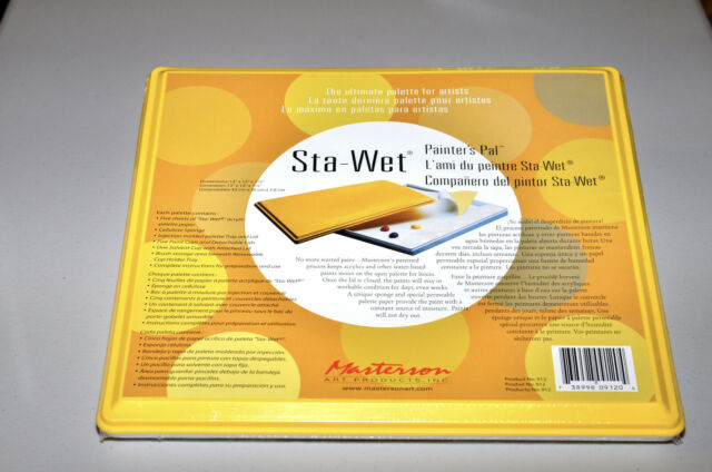 MASTERSON ART PRODUCTS 912 STA-WET PAINTERS PAL PALETTE 13X12 W//FILM SPONGE CUPS