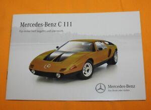Mercedes-C-111-Studie-Prospekt-Brochure-Depliant-Catalog-Folder-Prospetto