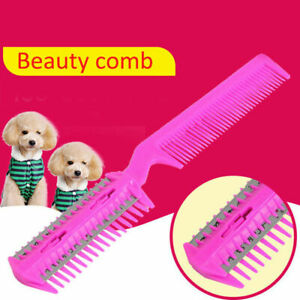 Pet-Hair-Trimmer-Comb-Cutting-Cut-Dog-Cat-With-4-Blades-Razor-Grooming-Cute-A1Q4
