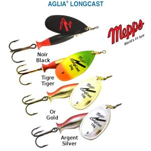 MEPPS AGLIA LONGCAST Black Silver Gold Tiger All Sizes 8 g 12 g 17 g 24 g
