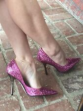 *PiNk SpaRkLe* Sz 7 Pointy Toe Stiletto Heels PUMP CARRIE GuESS Party Glitter
