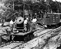 8x10 Civil War Photo: Federal Union Soldiers With Cannon On Railroad Car