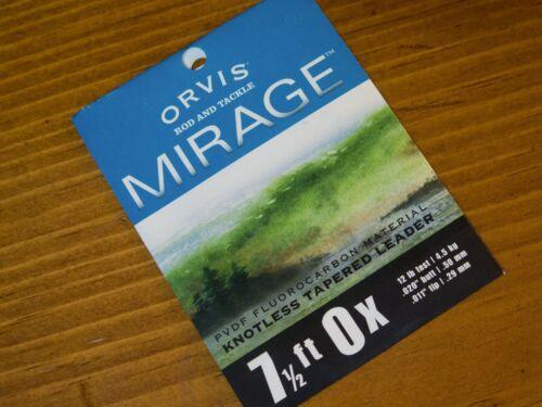 environ 2.29 m Orvis Mirage noeuds Tapered Leader 7.5 Ft 0X