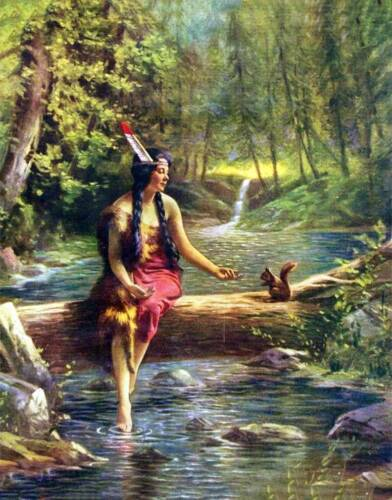 Indian Maiden Steam Log Squirrell