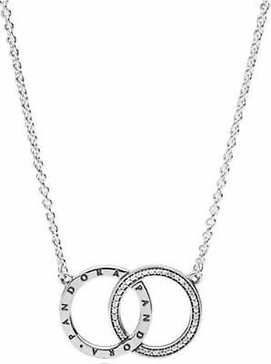 Ordentlich Genuine Pandora Silver Circles Necklace - 396235cz 45cm Clear-Cut-Textur