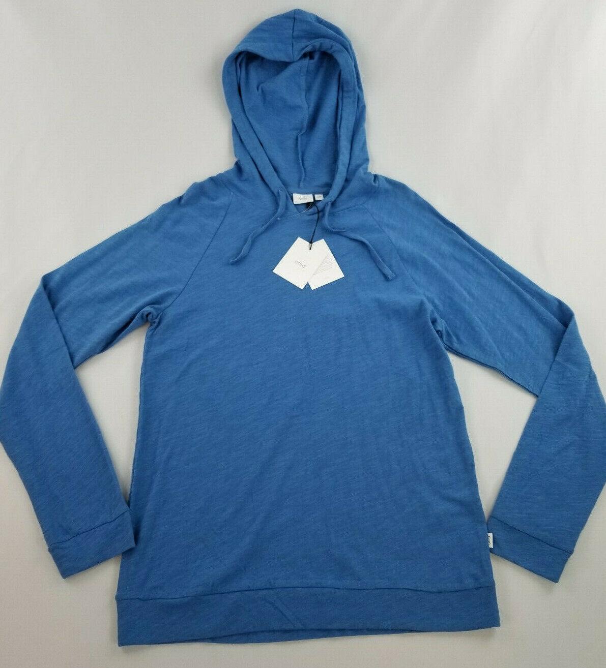 New ONIA men shirt top hoodie MCS32121001 royal bluee S MSRP