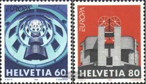 Schweiz-1499-1500-kompl-Ausg-gestempelt-1993-Europamarken