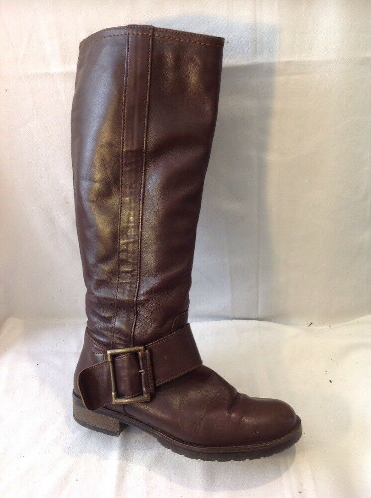Jones Boot Maker Brown Knee High Leather Boots Size 36