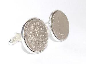 62nd Birthday Mens Luxury coin cufflinks HT