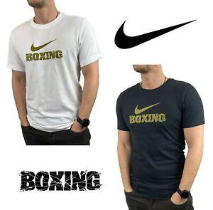 Men's Original T-Shirt Nike Dri Fit GOLD BOXING Training Shirt S-XL BX70