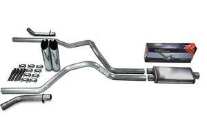 "Chevy GMC 1500 99-06 2.5/"" Dual Exhaust Kits No Muffler Corner Exit"