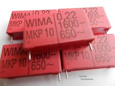 5 X WIMA MKP 10  Kondensator Polypropylen 0,22µF-1600- 650~ 220nF Rm 37,5mm MwSt