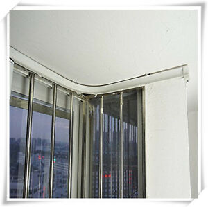 Details About 5 Meters Bendable Straight Curved Curtain Track Top Side Ceiling Mounting Cut