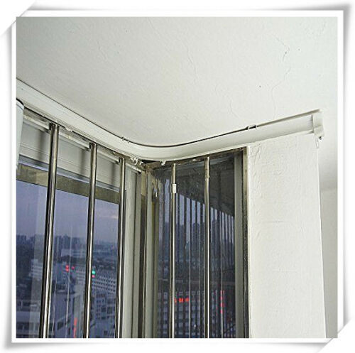 5 Meters Bendable Straight Curved Curtain Track Top Side Ceiling Mounting Cut