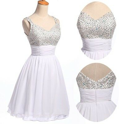 Quinceanera Sexy Beaded Party Homecoming Gown Graduation Prom Club Short Dresses